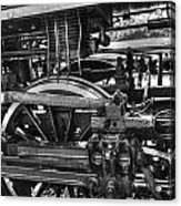 Old Train Wheel Acrylic Print