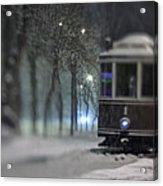 Old Tram On The  Street Acrylic Print