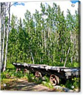 Old Tramway In Canyon City  Miles Canyon Trail Near Whitehorse-yk Acrylic Print