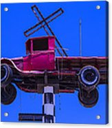 Old Truck With Cross Acrylic Print