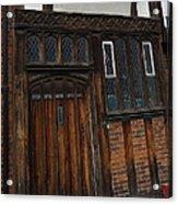 Old Tudor Doorway Acrylic Print