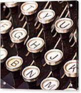 Old Typewriter Keys Acrylic Print