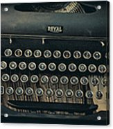 Old Typewriter With Letter Acrylic Print