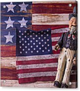 Old Uncle Sam And Flag Acrylic Print by Garry Gay