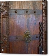 Old Vintage Door With Chain  Acrylic Print