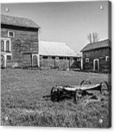 Old Wagon And Barns Acrylic Print