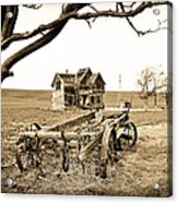 Old Wagon And Homestead Acrylic Print