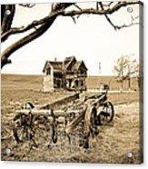 Old Wagon And Homestead II Acrylic Print by Athena Mckinzie