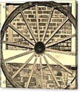 Old Wagon Wheel 1 Acrylic Print