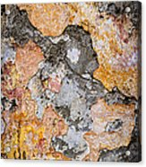 Old Wall Abstract Acrylic Print