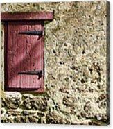 Old Wall And Door Acrylic Print