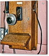 Old Wall Telephone Acrylic Print