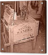 Old Washer Acrylic Print