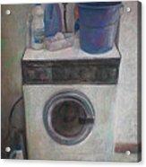 Old Washing Machine Acrylic Print by Paez  ANTONIO