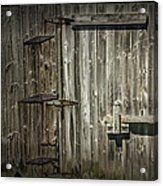 Old Weathered Barn Door Acrylic Print