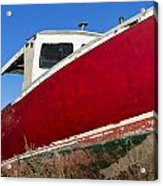 Old Weathered Boat Acrylic Print