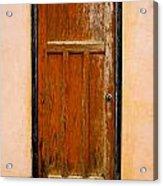 Old Weathered Door Acrylic Print