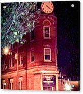Old Wedge Bank  Building  Haunted Alton Ill Acrylic Print