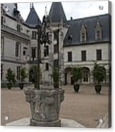 Old Well And Courtyard Chateau Chaumont Acrylic Print