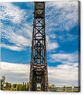 Old Welland Lift Bridge  Acrylic Print