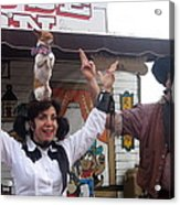Old West Canine Show Patriotic Dog Pinal County Fair Eleven Mile Corner Arizona 2005 Acrylic Print