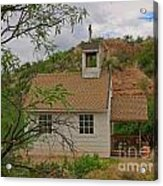 Old West Church In The Desert Acrylic Print