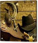 Old West Marshal Acrylic Print by Ron Hoggard