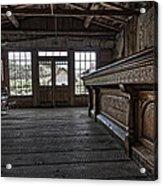 Old West Saloon Bar -- Bannack Ghost Town Montana Acrylic Print