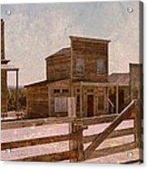 Old West Scene Acrylic Print