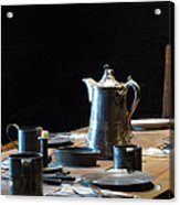 Old West Table Setting Acrylic Print