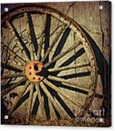 Old West Wagon Wheel Acrylic Print