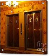 Old Westinghouse Elevators At The Brown Palace Hotel In Denver Acrylic Print
