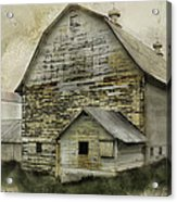 Old White Barn Acrylic Print