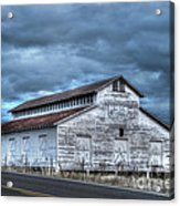 Old White Barn Acrylic Print