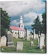 Old White Church Cemetery Acrylic Print