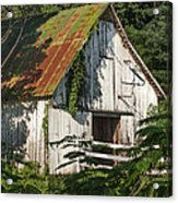 Old Whitewashed Barn In Tennessee Acrylic Print by Debbie Karnes