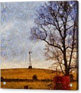 Old Windmill On The Farm Acrylic Print