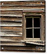 Old Window And Clapboard Acrylic Print