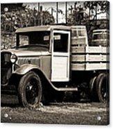 Old Wine Truck Malibu Acrylic Print