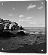 Old Woman Creek - Black And White 3 Acrylic Print