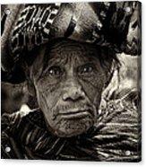 Old Woman Of Chichicastenango Acrylic Print
