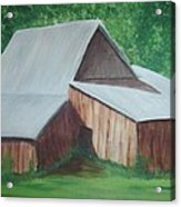 Old Wood Barn Acrylic Print by Melanie Blankenship