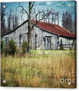 Old Wooden Barn Acrylic Print