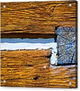 Old Wooden Houses Timbers Acrylic Print
