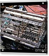 Old Wooden Lobster Pot Acrylic Print