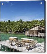 Old Wooden Pier Of Koh Rong Island In Cambodia Acrylic Print