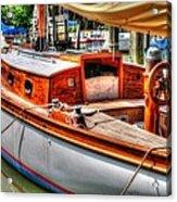 Old Wooden Sailboat Acrylic Print