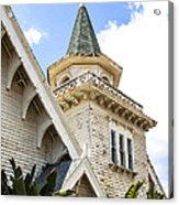 Old Wooden Victorian Chapel Church Steeple Fine Art Landscape Photography Print Acrylic Print