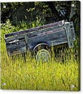 Old Wooden Wagon Acrylic Print