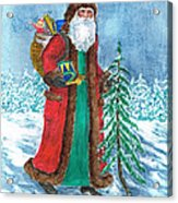 Old World Father Christmas4 Acrylic Print by Barbel Amos